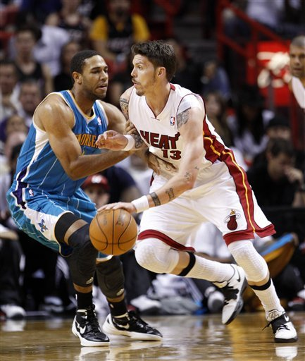 Miami Heat's Mike Miller (13) Drives