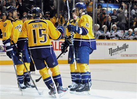 Nashville Predators Defenseman Shea Weber (6) Is