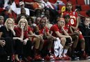 Maryland coach Brenda Frese, left, and others on the Maryland bench watch near the end of an NCAA women's college basketball tournament regional final against Notre Dame in Raleigh, N.C., Tuesday, March 27, 2012. Notre Dame won 80-49 to advance to the Final Four.