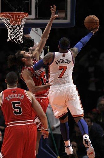 Chicago Bulls Center Joakim Noah (13) Defends