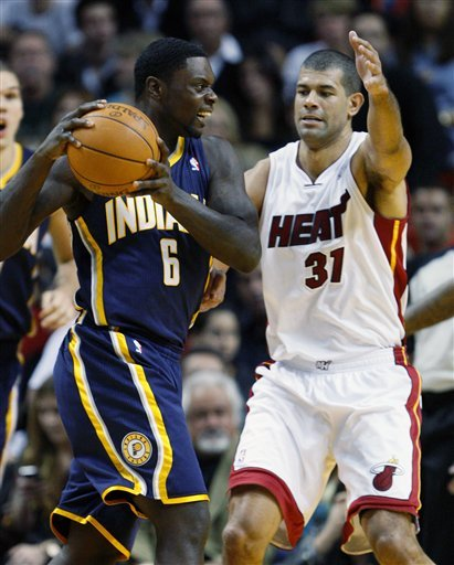 Indiana Pacers Guard Lance Stephenson (6) Looks