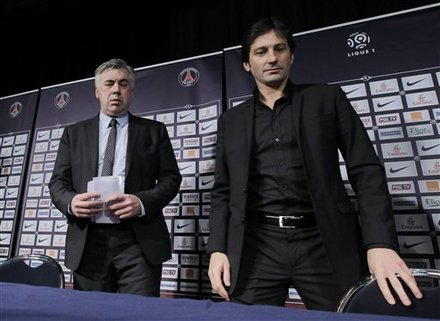 Paris Saint Germain (PSG) New Coach Carlo Ancelotti, Left, Of Italy, Arrives