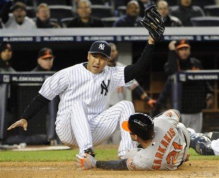 New York Yankees Starting Pitcher Hiroki Kuroda (18) Tags