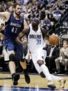 Dallas Mavericks ' Jason Terry (31) drives past Minnesota Timberwolves ' Kevin Love (42) in the second half of an NBA basketball game, Wednesday, Jan. 25, 2012, in Dallas. The Timberwolves won 105-90.