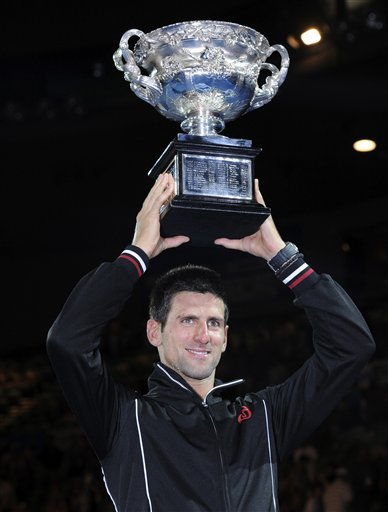 Novak Djokovic Of Serbia Holds