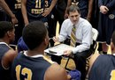 Murray State head coach Steve Prohm talks to his team during a time out during the second half of an NCAA college basketball game against Eastern Illinois , Friday, Dec. 30, 2011, in Charleston, Ill.