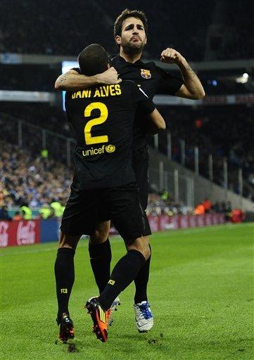 اهداف مباراه إسبانيول برشلونة بتاريخ 8/1/2012 الاسبوع الدوري الاسباني 2012 تحميل ومشاهدة مباشرة سيسك فابريجاس وهدف اسبانيول