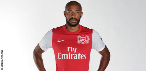 Arsenal.com accidentally posts photo of Thierry Henry in kit