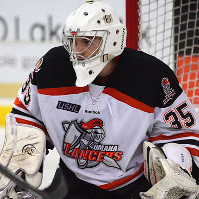 Omaha Lancers' Cole Bruns has zeroed in on USHL history: 5 shutouts in a row to open season