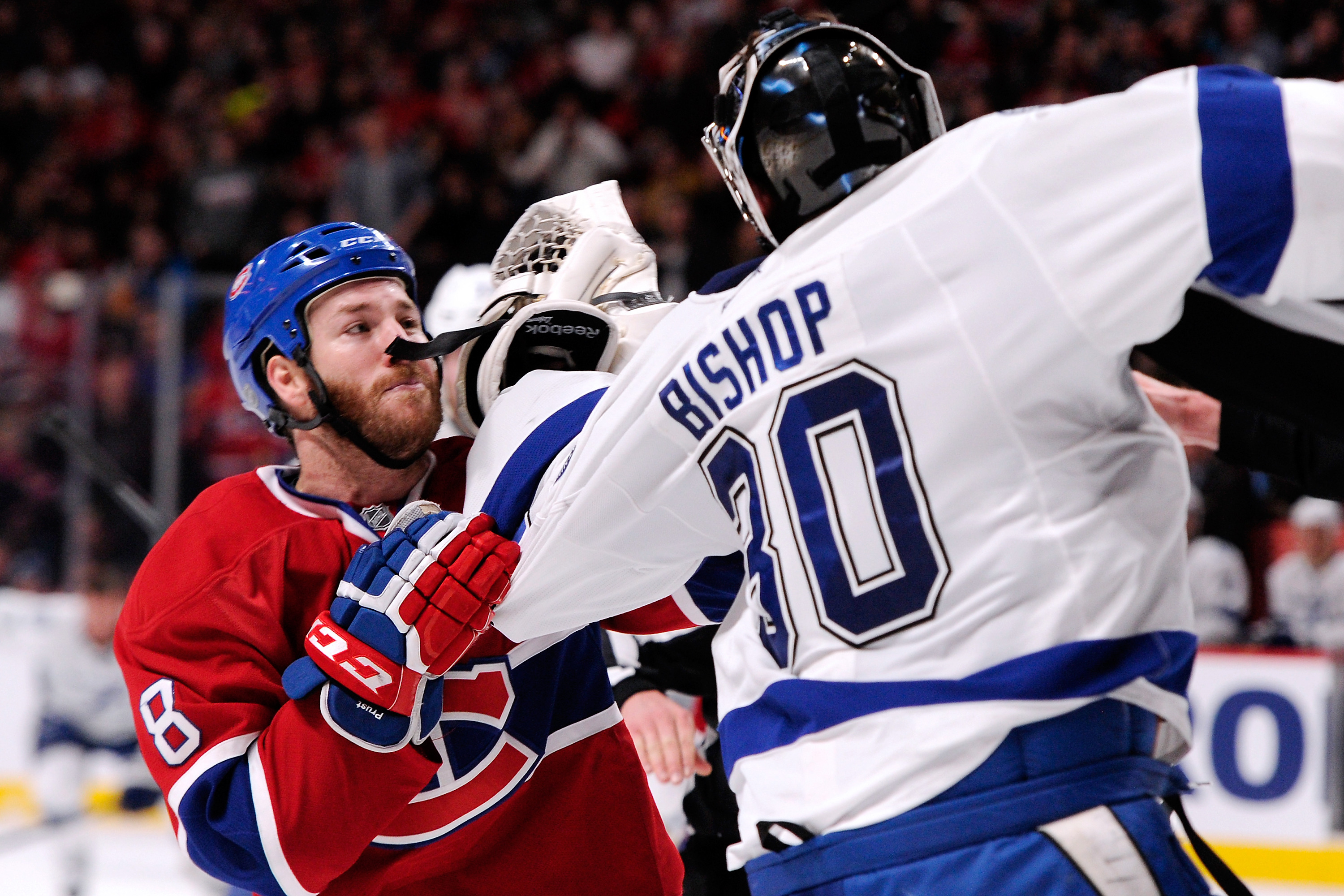 Ben Bishop, Brandon Prust debate meaning of life on ice and it doesn't end well (VIDEO)
