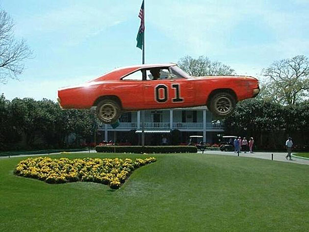 Bubba Watson. Augusta. The General Lee. You know you want to see it.