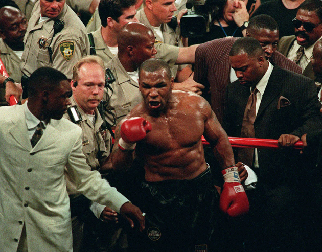 Evander Holyfield, Mike Tyson continue to joke about 'Bite Fight'