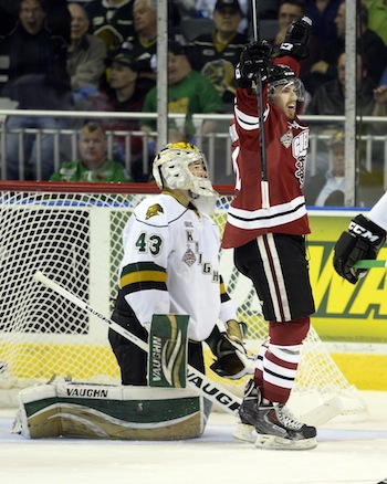 Kosmachuk, Nichols the perfect Storm as Guelph knock off Knights – Memorial Cup 3 Stars