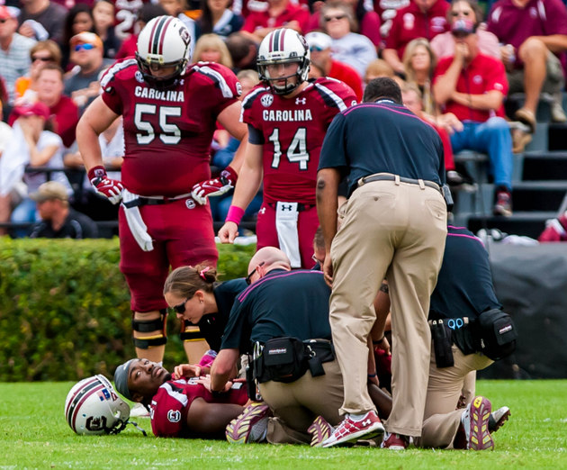 "Marcus Lattimore says at NFL combine doctors will be ""shocked"" at recovery from ugly college injury"
