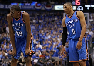 Kevin Durant and Russell Westbrook had a spat on the Thunder bench