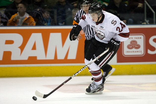 Guelph Storm forward Scott Kosmachuk lit the lamp four times in Guelph's 7-3 home stomping of the Ottawa 67's. (CP Images - Mark Spowart)
