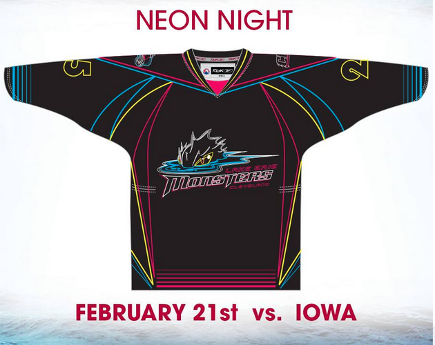 Lake Erie Monsters to go full Tron, wear special neon jerseys (Photo)