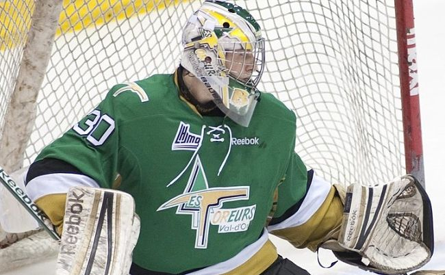 Val-d'Or Foreurs, backed by Antoine Bibeau, oust Halifax from QMJHL playoffs; Drakkar outlast Armada