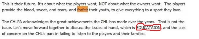 CHLPA claims players 'forfeit their youth' in latest error-filled manifesto