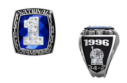 PHOTO: The school championship ring the 1996 team will receive