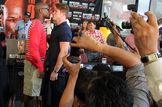 Would Floyd Mayweather and Canelo Alvarez benefit from the Garcia-Matthysse bout on their undercard?