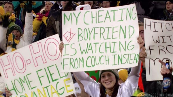 Best fan sign of the year: Packers fan uses game tickets to get back at cheating ex