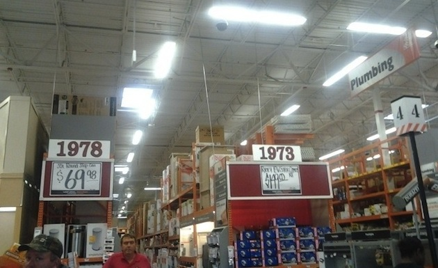 Tuscaloosa Home Depot uses championship years for row numbers