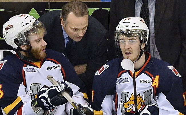 Barrie Colts' Anthony Camara ejected for charging in Game 2 of OHL final