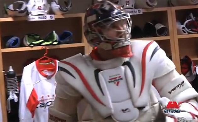 Alex Ovechkin straps on goalie pads, is the Tretiak of ball hockey (Video)