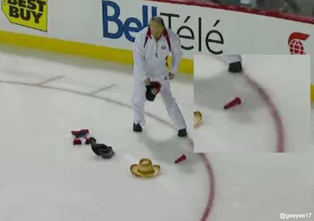 That Ain't No Cephalopod: ...Someone Celebrated Lars Eller's Hat Trick With A Sex Toy