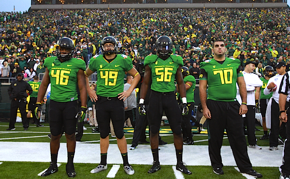 Nine large Oregon players were trapped in one tiny hotel elevator