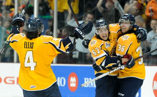 2012 MasterCard Memorial Cup: Shawinigan Cataractes pull away late, beat London Knights; post-game questions