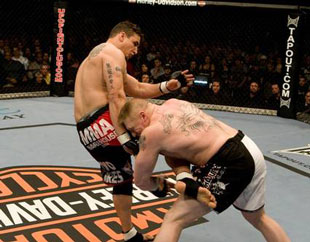 Frank Mir says Alistair Overeem has little chance of staying on his feet against Brock Lesnar