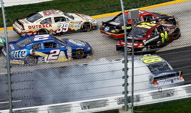 Thanks to late caution, Newman swipes Martinsville win from Gordon and Johnson