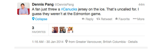 Did Blackhawks fan frame Vancouver fans for jersey toss onto ice?