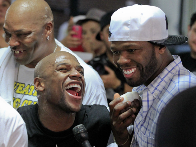 Rapper 50 Cent seems in, Golden Boy Promotions out as Floyd Mayweather's promoter