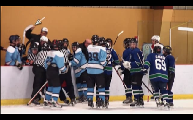 VIDEO: Quebec minor hockey coach faces discipline in brawl involving players and referees