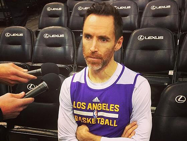 Steve Nash to return to Lakers vs. Wolves after, it appears, months of concentrated grizzling