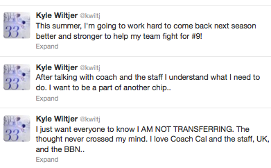 Kyle Wiltjer will not transfer from Kentucky