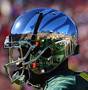 Bowl Roll Call, Round two: Why yes, that is chrome Oregon's wearing
