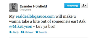 Mike Tyson, Evander Holyfield joke on Twitter about infamous 'Bite Fight,' push barbecue sauce