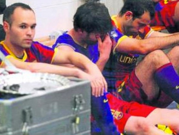 This is Lionel Messi crying after a loss to Real Madrid