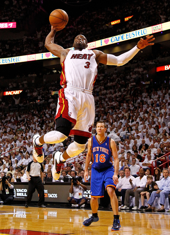 Dwyane Wade #3 Of The Miami Heat Drives