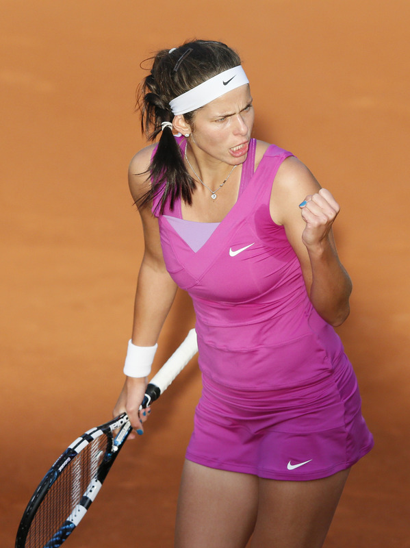 Germany's Julia Goerges Reacts