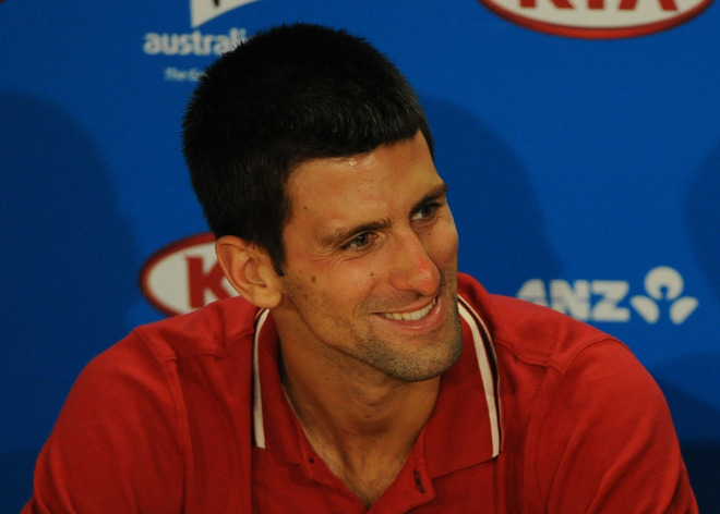 Novak Djokovic Of Serbia Smiles