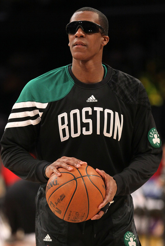 Rajon Rondo #5 Of The Boston Celtics Wears
