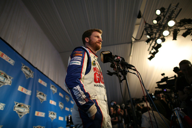 Dale Earnhardt Jr., Driver Of The #88 National Guard/Diet Mountain Dew Chevrolet, Speaks