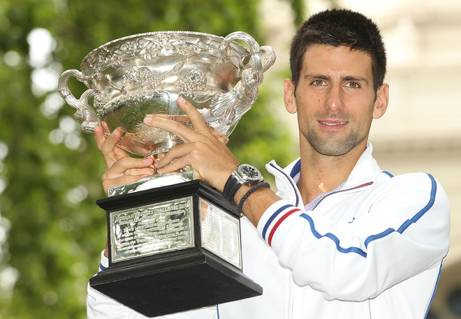 Novak Djokovic Of Serbia Poses