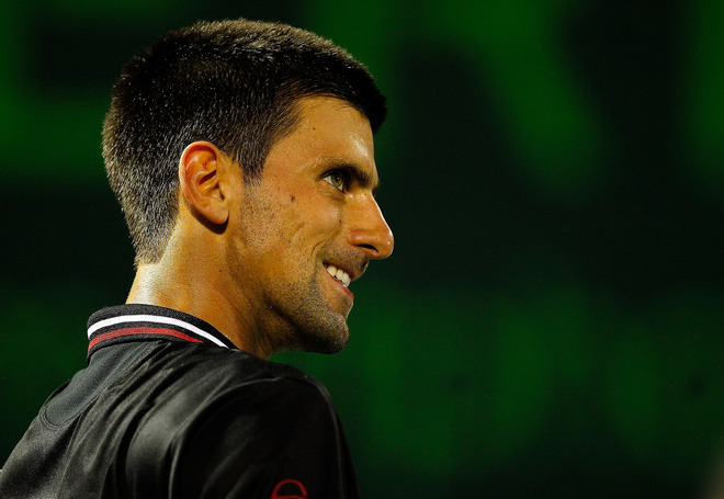 Novak Djokovic Of Serbia Looks