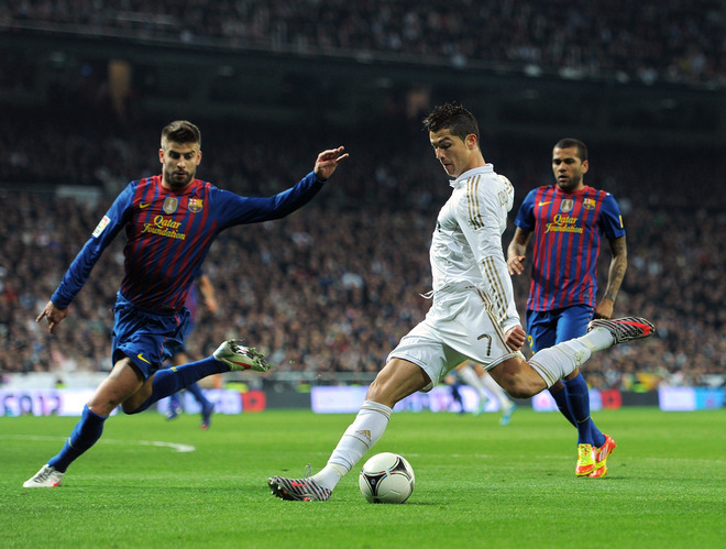 Cristiano Ronaldo Of Real Madrid Strikes